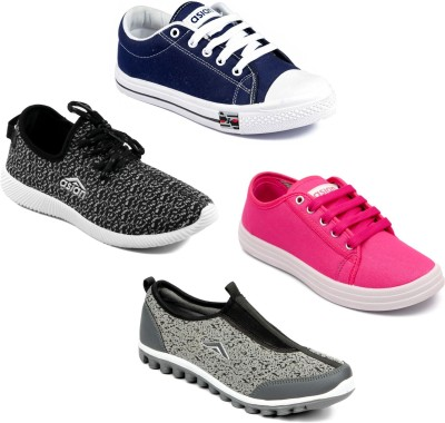 0f916355c0ba5 43% OFF on Asian Women Casual   Running Shoes Combo Pack of 4 Canvas Shoes