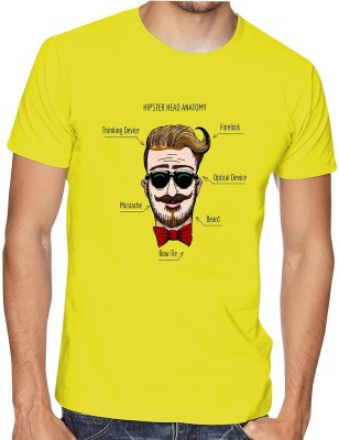 Casotec Printed Men Round Neck Yellow T-Shirt Flipkart