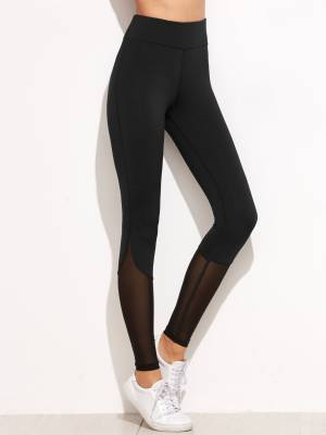 Blinkin Solid Women Black Tights