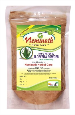 Neminath Herbal Care 100% Natural AloeVera Leaves (ALOE BARBADENSIS) Powder for SMOOTH HAIRS NATURALLY (227Grams)(227 g)