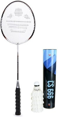 Cosco Combo of Two- One 'Cb 300' Badminton Racket and one Box 'CS 666' Feather Shuttle cock (Color On Availability)- Badminton Kit  available at flipkart for Rs.1570