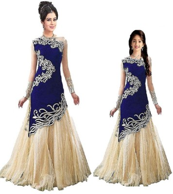 856ed7de06f39 G-Stuff Fashion Embroidered Semi Stitched Lehenga Choli(Blue)