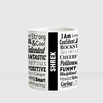 Huppme SHREK White cermaic coffee mug Ceramic Mug(350 ml)