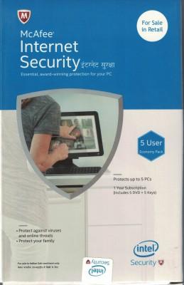 McAfee Internet Security 5 User 1 Year(Voucher)