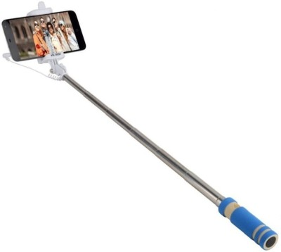 Lambent Cable Selfie Stick(Multicolor, Remote Included) Flipkart