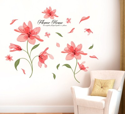 Sree Cart Small Wall sticker decals Beautiful Pink flowers Sticker(Pack of 1)  available at flipkart for Rs.99