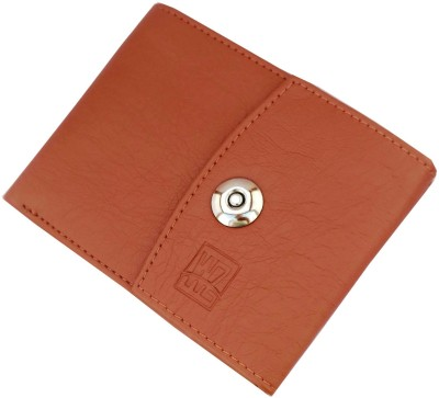 Wenzest Men Tan Artificial Leather Wallet 6 Card Slots