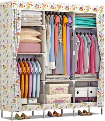 Furn Central 2 Door PP Collapsible Wardrobe(Finish Color - Fruits and Flowers)