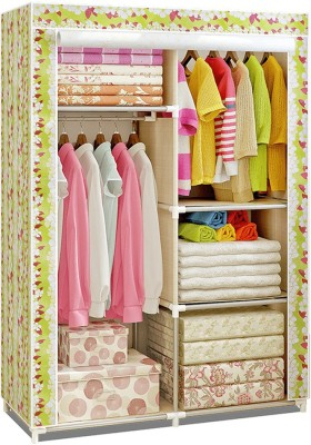 GTB Micro Fiber Collapsible Wardrobe(Finish Color - Pink)