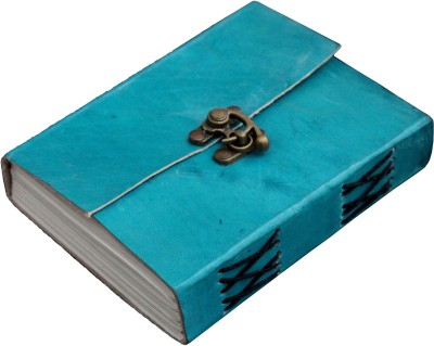 Craft Shop A6 Diary Handcrafted 100% Pure Leather, Ocean Blue