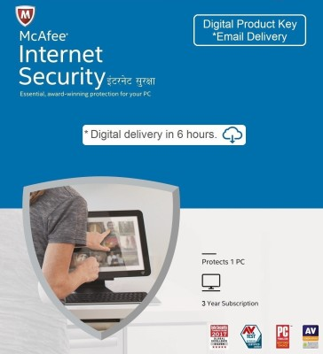 McAfee 1 User 3 Years Internet Security (Email Delivery - No CD)(Standard Edition)