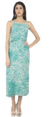 Color Fuel Women A line Blue Dress