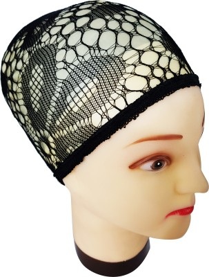 Majik Wig Caps - Meshed Stretchable Fabric (Black) Hair Tattoo/Sticker(Black)  available at flipkart for Rs.199