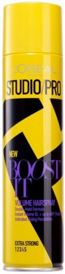 L'Oreal Studio/Pro New Boost It Extra Strong 4 Volume Hairspray Spray(400 ml)