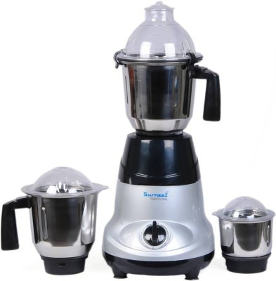 SUMEET AMICA 750 Mixer Grinder(Multicolor, 3 Jars)  available at flipkart for Rs.3299