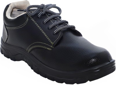 Indcare Zara Safety Shoes with Steel Toe Casuals For Men(Black)
