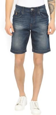 U.S. Polo Assn Solid Men's Blue Denim Shorts