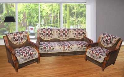 BTI Polycotton Sofa Cover(Multicolor Pack of 6) at flipkart