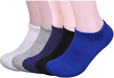 Novasox Men's Solid Ankle Length Socks(Pack of 5)