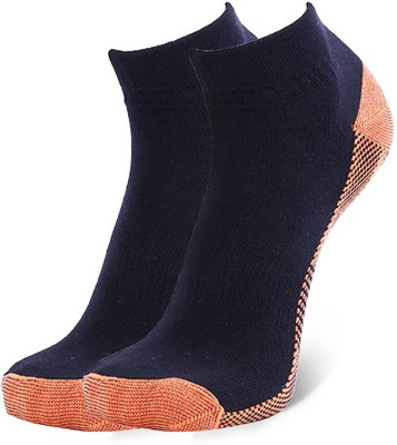 Novasox Men's Solid Ankle Length Socks(Pack of 2)