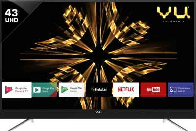 Vu Android 43 inch Ultra HD (4K) LED Smart TV is a best LED TV under 40000