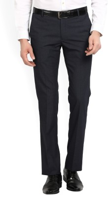 Arrow New York Slim Fit Men's Blue Trousers