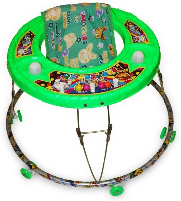 Akshat Musical Activity Walker With Parent Rod(Green)  available at flipkart for Rs.395