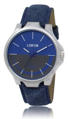 LOREM LR24 Blue Stylish Jeans Designer Attractive Analog Watch   For Men LOREM Wrist Watches