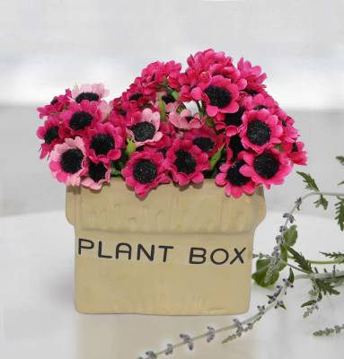 Tied Ribbons Artificial flower with pot for bedroom Artificial Plant  with Pot