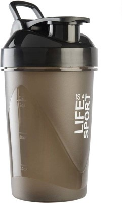 Xudo Fitness Gym Protein Shaker 400 ml Bottle, Shaker, Sipper, Can(Pack of 1, Black)  available at flipkart for Rs.229