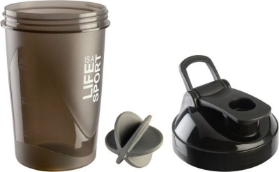 Tranduious Fitness Gym Protein Shaker/Sipper 400 ml Shaker, Sipper, Bottle, Water Bag, Can(Pack of 1, Black)  available at flipkart for Rs.233