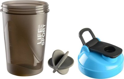 Tranduious Fitness Gym Protein Shaker/Sipper 400 ml Shaker, Sipper, Bottle, Water Bag, Can(Pack of 1, Blue)  available at flipkart for Rs.233