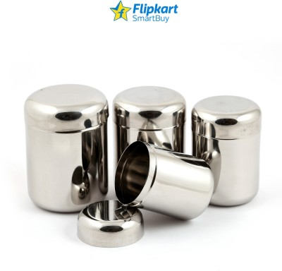 Flipkart SmartBuy Stainless Steel Micro Size  - 100 ml, 150 ml, 200 ml, 250 ml Steel Spice Container(Pack of 4, Silver)