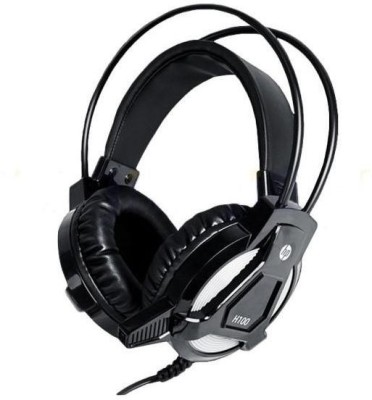 HP H100 Wired Gaming Headset(Black, On the Ear)