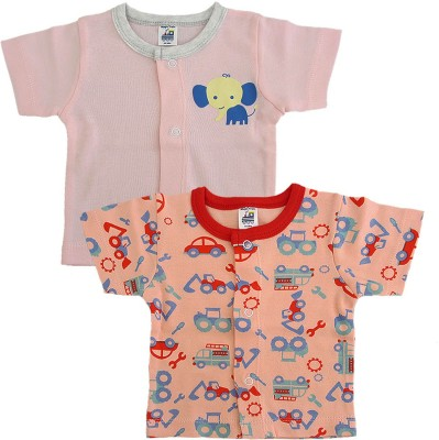 Magic Train Boy's & Girl's Printed Cotton T Shirt(Multicolor, Pack of 2)  available at flipkart for Rs.279