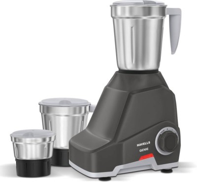 Havells Genie 500 Watts Mixer Grinder Grey, (3 Jars)