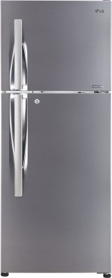 LG 260 L Frost Free Double Door Top Mount 4 Star Refrigerator(Shiny Steel, GL-T292SPZN)  available at flipkart for Rs.27999