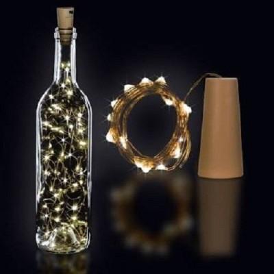 Copper String LED light 2 MTR 20 LED Bottle cork Operated Decorative...