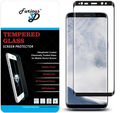 Furious3D Tempered Glass Guard for Samsung Galaxy S9 (Black)(Pack of 1)