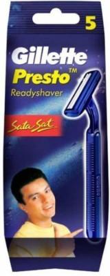 Gillette Presto Readyshaver Sata Sat Razor(Pack of 5)