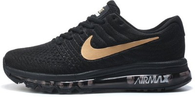 Nike shoes AIRMAX 2017 Running Shoes For Men(Black, Gold)