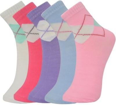 Novasox Men's Checkered Crew Length Socks(Pack of 5)