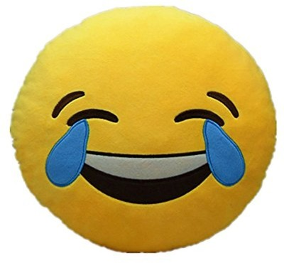 Pandora Premium Quality Laughing Tears Soft Smiley Cushion   35 Cm   35 cm Yellow Pandora Soft Toys