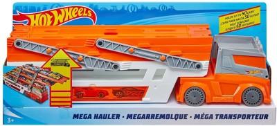 Hot Wheels Mega Hauler 50TH Anniversary Edition Orange Hot Wheels Push   Pull Along