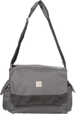 MeeMee Multipurpose Diaper Bag with Bottle Warmer   Changing Mat  Dark Grey  Nursery Bag Dark Grey MeeMee Diaper Bags