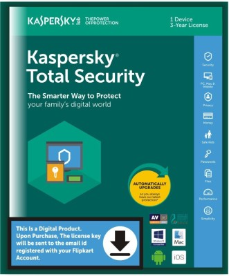 KASPERSKY 1 User 3 Years Total Security Activation Code(Standard Edition)