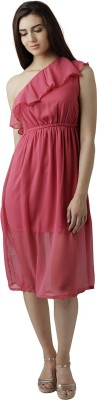 Miss Chase Women A line Pink Dress