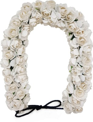Majik Flowers 3D Hair Gajra (Veni) For Women Bridal Hair Accessories (White) Hair Accessory Set(White) Flipkart