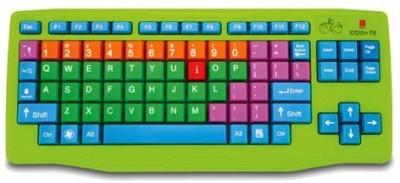 ShopyBucket 109 Keys With Numeric Keys Silicone Rubber Waterproof Flexible Foldable Wired USB Laptop Keyboard(Green)P4 Bluetooth Laptop Keyboard(Green)