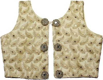 MVD Fashion Girls Festive & Party Ethnic Jacket, Blouse and Pallazo Set(Gold Pack of 1)
